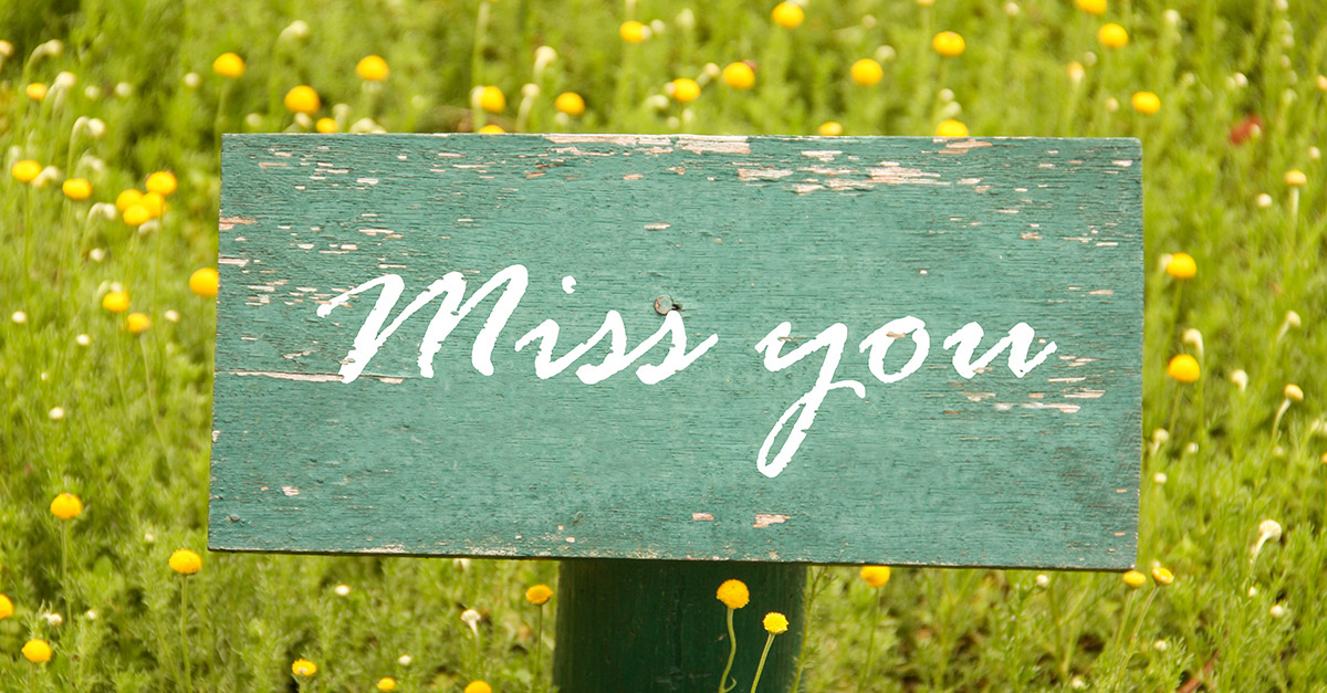 Missing You …